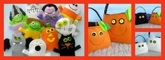 Halloween Finger Puppets by #Sewing Miles of Smiles