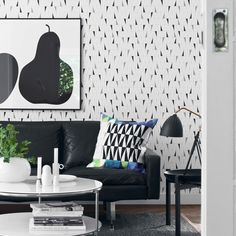 Wallpaper designed by Sven Markelius. Ratio is a new interpretation of a selected section of the pattern Pythagoras by Sven Markelius. His architectural background is evident in his design. The tri-mitre square, every architect's favorite tool, was a great inspiration in his designs.