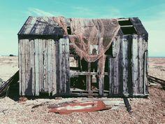 Abandoned shed at dungeness Kent UK.