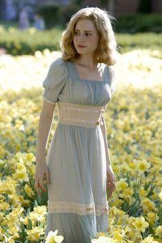 Blue & cream dress