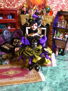 OOAK Dollhouse Miniature Doll Steampunk Victorian by LoreleiBlu, $103.00