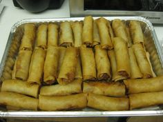 These spring rolls, served with dipping sauce are a favorite at our house. While they are a little tedious to make, the recipe makes about 20, so they can be frozen and then just thawed the next time. Cook time is approximate, it will depend on how many you make, and whether you need to do them in batches.