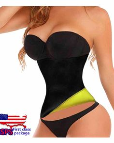 6cb63255415 Hot Thermo Sweat Neoprene Slimming Shapers Belt Waist Cincher Trainer M  Yellow     Check out the image by visiting the link.