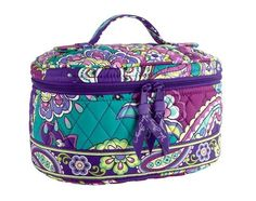 Vera Bradley HOME AND AWAY COSMETIC Makeup Case ~ HEATHER ~ New/NWT #VeraBradley #CosmeticBags