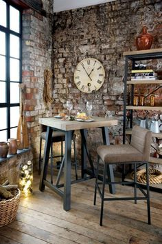 Browse our Lowry Industrial collection for the dining living room Constructed from solid reclaimed wood this range is chunky in style and inspired by Table Bar, Dining Table, Dining Room, Timber Shelves, Urban Rustic, Home Office Storage, Loft Style, Industrial Loft, Rustic Feel