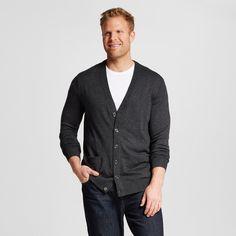 Men's Big & Tall Cardigan - Merona, Size: Xxl Tall, Grey