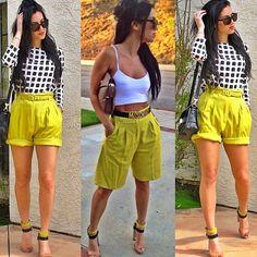 Burberry Brit Tailored Pleated Shorts Yellow Quartz shorts $175