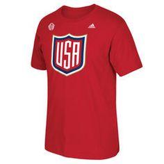 US Hockey adidas 2016 World Cup of Hockey Primary Logo T-Shirt - Red Nhl Hockey Jerseys, Usa Hockey, Hockey Shirts, Hockey World Cup, Usa Shirt, Adidas Women, Usa Apparel, Red 2016, Logo