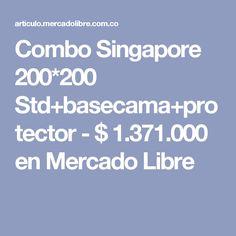 Combo Singapore 200*200 Std+basecama+protector - $ 1.371.000 en Mercado Libre