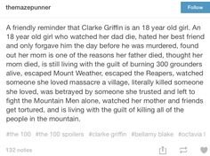 Wow, no matter what happen's I will always love Clarke. She has had to make the…