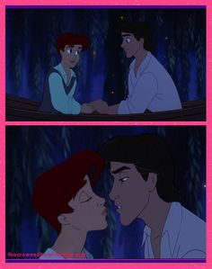 Genderbent Ariel-- I'm not really into the gay fanart, but this genderbend is beautiful, I would so watch something like this.