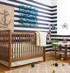 Here's a pic from land of nod's themed nursery- Nautical Nursery