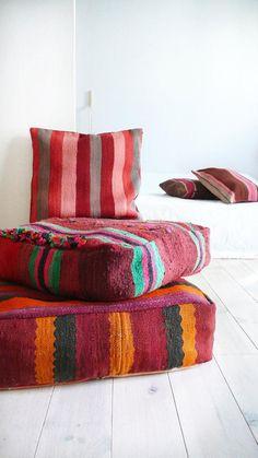 coussins de sol, beaux matelas pour sol ethniques