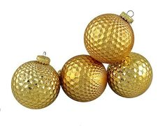 4 Christmas Ornaments by Gordon Companies, Inc. $16.50. Please refer to SKU# ATR25937180 when you inquire.. Shipping Weight: 0.50 lbs. This product may be prohibited inbound shipment to your destination.. Brand Name: Gordon Companies, Inc Mfg#: 30896547. Picture may wrongfully represent. Please read title and description thoroughly.. 4 Christmas Ornaments/gold shiny and matte prism/shatterproof/2.75'' (70mm) dia/made of plastic/you get four ornaments