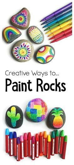 4 Creative ways to paint and decorate rocks! All kinds of tips of supplies to use in this fun art project and craft for kids of all ages! Perfect for summer and rock hunting! ~ From Color Made Happy