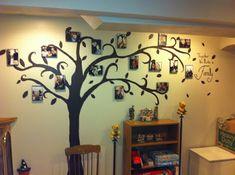 más y más manualidades: Árboles familiares para pared.