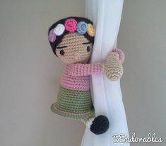Frida - Frida curtain tieback crochet PATTERN, right or left tieback pattern PDF - Bebe Frida Patter