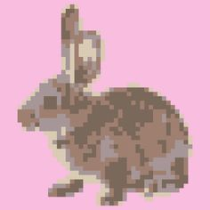"""Quilt Pattern """"Brown bunny - small"""" 