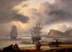 Teignmouth Beach and Ness Point, Devon, Thomas Luny 1829