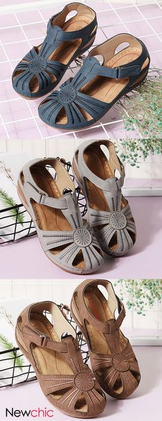 Lostisy LOSTISY Women Wedges Flower Splicing Casual Comfort Adjustable Sandals is comfortable to wear. Shop on NewChic to see other cheap women sandals on sale. Women's Shoes, Buy Shoes, Me Too Shoes, Women's Fashion Dresses, Fashion Shoes, Shoe Wardrobe, Tommy Hilfiger Damen, Sandals For Sale, Luxury Shoes