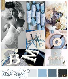 Wedding Moodboard | Blue Black
