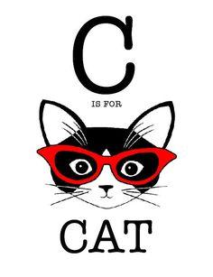 C is for Cat l #illustration