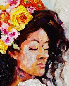 """Я так же, как и вы соскучилась по солнцу, теплу и лету! Душе хочется сочных, ярких цветов и эмоций, поэтому рождаются такие картины. 💛  Представляю вам мою новую работу """"Карри"""" масло холст на подрамнике 30х40 картина свободна для приобретения. 💛 #fraangelickaart #картина #искусство #картинамаслом #маслянаяживопись #картинавинтерьер #интерьернаякартина #дизайнинтерьеров #дизайн #интерьер #искусство"""
