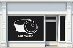 Sticker adhésif Fait Maison pour les vitrines de restaurant, brasserie...