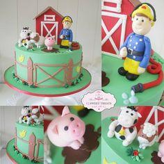 Fireman Sam on the Farm Cake by cjsweettreats
