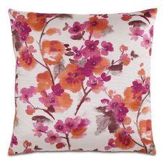 Eastern Accents Garden Flora Sunset Throw Pillow
