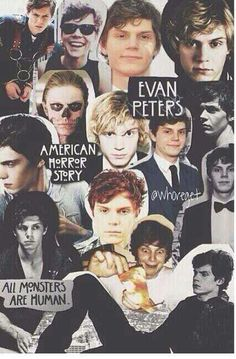 Evan Peters... And Ashton Irwin on the top left one next to Kit Walker I don't think they even look alike