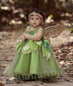 Vestido infantil fada sininho com asa                                                                                                                                                                                 Mais