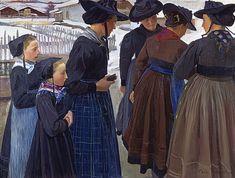 Ernest Biéler, Saviésannes le dimanche, 1904, huile sur toile, 117 x 157 cm, Stiftung für Kunst, Kultur und Geschichte, Winterthur © www.ernest-bieler.ch