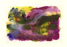 Latest in my Etsy Art shop Landscape Study #7 Colourful monoprint in rich purples magenta green by IanBertramUKArtist Find it here http://ift.tt/2Aqlj5j