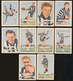 1958-Atlantic-Petrol-Collingwood-Team-Set-10-Cards-Picture-Pageant-Card