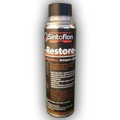 RESTORE: prodotto da applicare su plastiche e gomme e parti di montaggio. Pulisce, ravviva, lubrifica. Particolarmente adatta su auto d'epoca nelle operazioni di smontaggio e rimontaggio.
