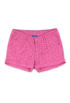 Shorts Infantil Menina Em Tecido Laise