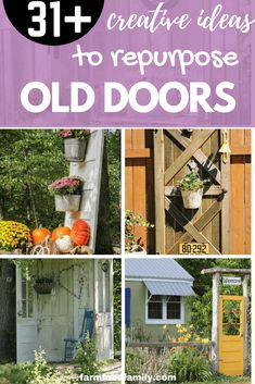 Check out 31 awesome & unique repurposed old door ideas and projects for your backyard #gardeningideas #woodworkingprojects #repurposed #farmfoodfamily