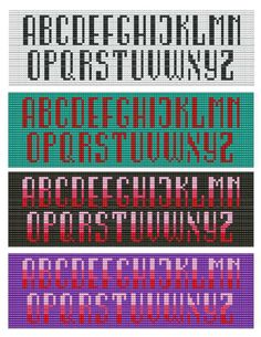 For sale is Bead Loom Alphabets Font 5 All Letters Bracelet Pattern Chart in PDF format. This alphabet includes 2 designs shown on the listing