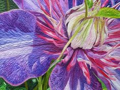 A Passion for Purple by Andrea Brokenshire. Closeup phot oby Crayon Box Quilt Studio: MQX East 2015