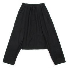 ブラックコムデギャルソンBLACK COMME des GARCONS 起毛ウールサルエルパンツ 黒XS