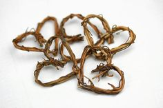 5 Miniature Grapevine Twig Heart Wreath  by TheLittleHedgerow