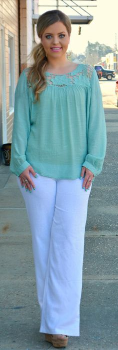 Perfectly Priscilla Boutique - By All Means Linen Pant - White, $32.00 (http://www.perfectlypriscilla.com/by-all-means-linen-pant-white/)