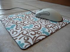 Shealynn's Faerie Shoppe: No Sew Fabric Mousepad { Tutorial }