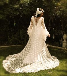Ophelia Embroidered Lace Romantic Gown  Sky Janel Photography