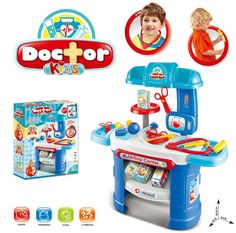 Kids Pretend Play Doctor Set , Deluxe Doctor Table Playset Toy 21 Pieces w/ Medical Table , Medical Tools & Accessories , Kids Pretend Doctor Nurse Medical Toy Set Doctor Play Set, Playing Doctor, Baby Play, Baby Toys, Kids Toys, Play Centre, Creative Play, Baby Games, Pretend Play