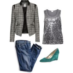 """friday night outfit"" by practicallystylishblog on Polyvore"
