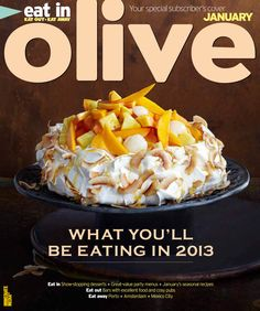 olive January 2013 subscribers cover