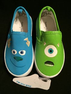 a63194e5274e Custom Designed Hand Painted Shoes Kid Sizes. Disney Painted Shoes