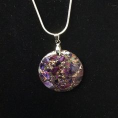 Jasper Sea Sediment Sterling Silver necklace. Colors of purple, brown and cream. Offered by HappyLilac at Happylilac.etsy.com - one of a kind